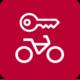 Icon: Fahrrad mit Schlüssel